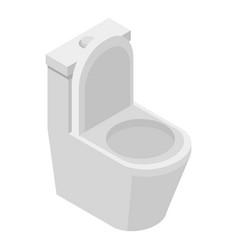 toilet icon isometric style vector image