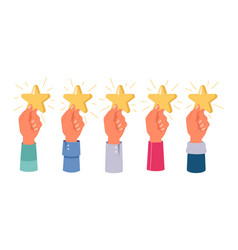 top 5 stars rate rating feedback positive review vector image
