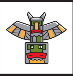 traditional indian totem vector image