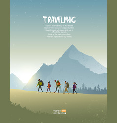 travel mountains vector image