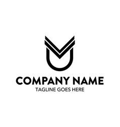 unique automotive logo template vector image
