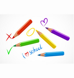 various colorful pencils vector image