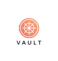 Vault locker logo icon vector