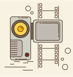 Video camera flat style vector