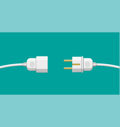 wire plug and socket vector image