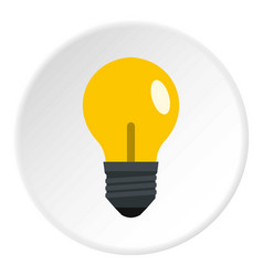yellow light bulb icon circle vector image