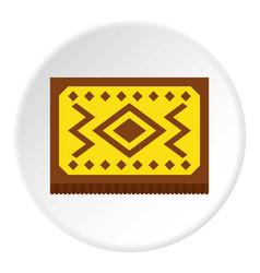 Yellow turkish carpet icon circle vector