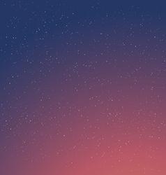 Cartoon Retro Night Sky With Stars Background vector image vector image