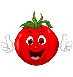 Cute Tomato Cartoon Character giving thumbs up vector image vector image