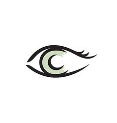 Human eye logo Smooth lines style vector image vector image