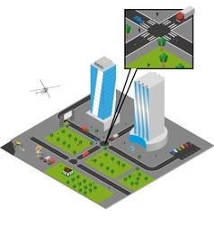 isometric city vector image vector image