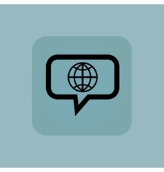 Pale blue globe message icon vector image vector image