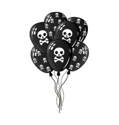 pirate party air balloons icon vector image vector image