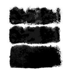 watercolor wide black brushes set vector image