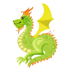 dragon with wings vector image vector image