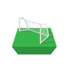 Football goal cartoon icon vector image