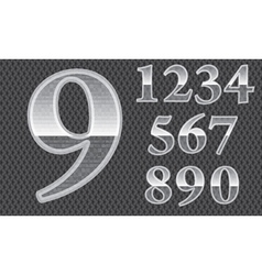 Glass numbers vector image