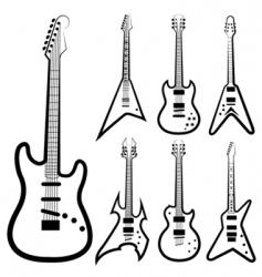 guitar set vector image