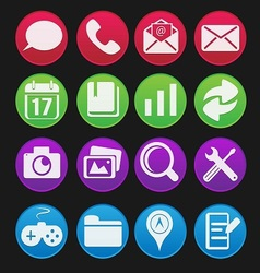 Mobile Phone Icon Gradient Style vector image vector image
