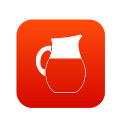 pitcher of milk icon digital red vector image