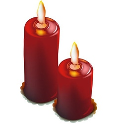 Red Christmas Candles vector image vector image