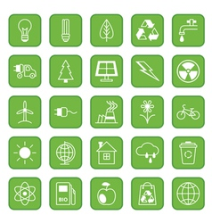 Set of flat icons Ecology and Environment vector image