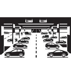 Underground car parking vector image vector image