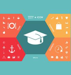 master cap for graduates square academic cap vector image