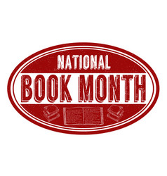 national book month grunge rubber stamp vector image