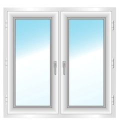 plastic closed double window vector image