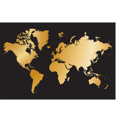 political world map isolated on black background vector image vector image