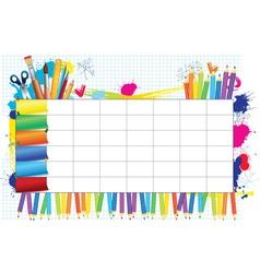 School timetable vector