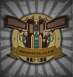Symbol shooting club vector image vector image