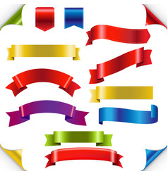 big color ribbons set vector image vector image