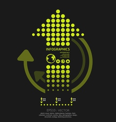 infographics set dots arrows Modern style vector image vector image