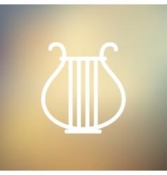 Lyre thin line icon vector image