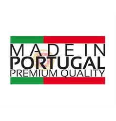 made in portugal icon premium quality sticker vector image