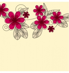 stylized abstract contour flowers vector image vector image