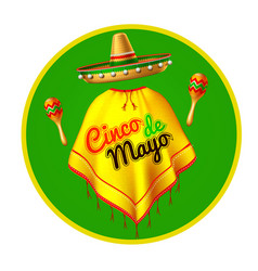 3d cinco de mayo party poster banner vector