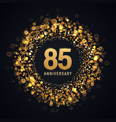 85 years anniversary isolated design vector image