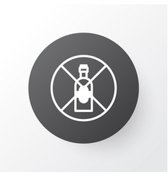 Alcohol forbid icon symbol premium quality vector