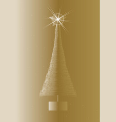 Artificial christmas tree vector