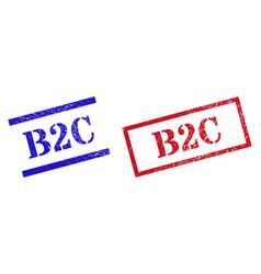 B2c grunge scratched stamp watermarks vector