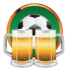Beer and Soccer Ball5 vector