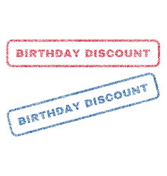 birthday discount textile stamps vector image