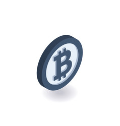 bitcoin icon coin with bitcoin sign vector image