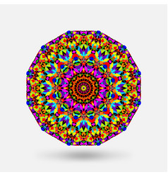 Bright color circular kaleidoscope pattern vector