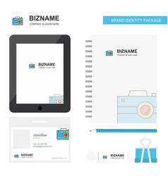 camera business logo tab app diary pvc employee vector image