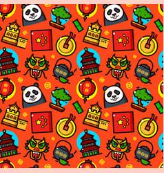 China seamless pattern vector