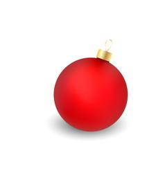christmas ball with shadow vector image